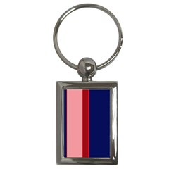 Pink and blue lines Key Chains (Rectangle)