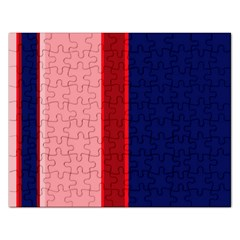 Pink and blue lines Rectangular Jigsaw Puzzl