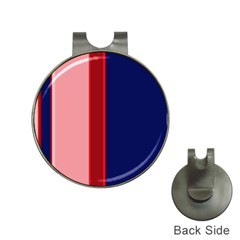 Pink and blue lines Hat Clips with Golf Markers