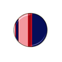 Pink and blue lines Hat Clip Ball Marker (10 pack)