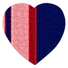 Pink and blue lines Jigsaw Puzzle (Heart)