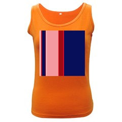 Pink and blue lines Women s Dark Tank Top