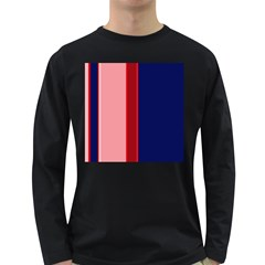 Pink and blue lines Long Sleeve Dark T-Shirts