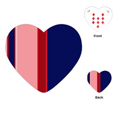 Pink and blue lines Playing Cards (Heart)