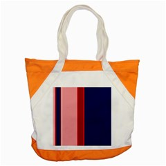 Pink and blue lines Accent Tote Bag