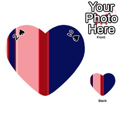 Pink and blue lines Playing Cards 54 (Heart)