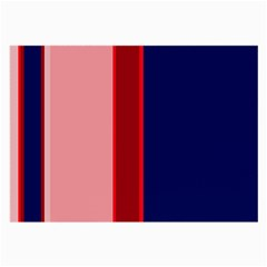 Pink and blue lines Large Glasses Cloth (2-Side)