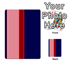 Pink and blue lines Multi-purpose Cards (Rectangle)