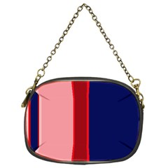 Pink and blue lines Chain Purses (One Side)