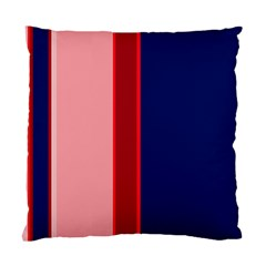 Pink and blue lines Standard Cushion Case (One Side)