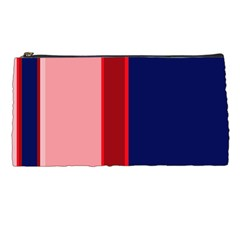 Pink and blue lines Pencil Cases