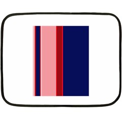 Pink and blue lines Double Sided Fleece Blanket (Mini)