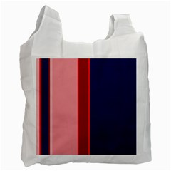 Pink and blue lines Recycle Bag (One Side)