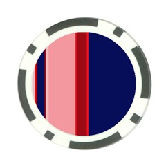 Pink and blue lines Poker Chip Card Guards (10 pack)