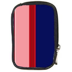Pink and blue lines Compact Camera Cases