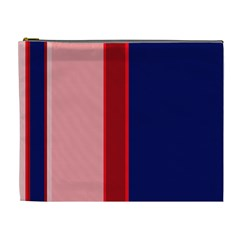 Pink and blue lines Cosmetic Bag (XL)