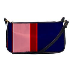 Pink and blue lines Shoulder Clutch Bags