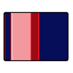 Pink and blue lines Fleece Blanket (Small)