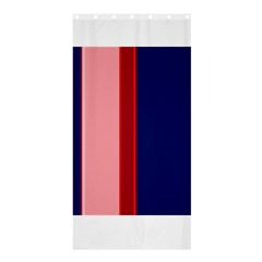Pink and blue lines Shower Curtain 36  x 72  (Stall)