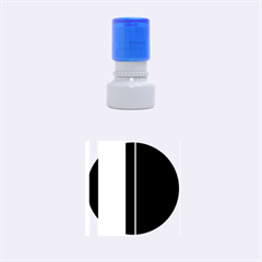 Pink and blue lines Rubber Round Stamps (Small)