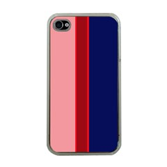 Pink and blue lines Apple iPhone 4 Case (Clear)