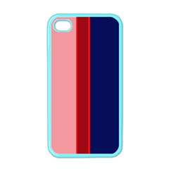 Pink and blue lines Apple iPhone 4 Case (Color)