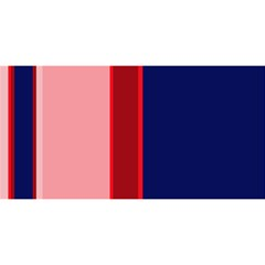 Pink and blue lines YOU ARE INVITED 3D Greeting Card (8x4)