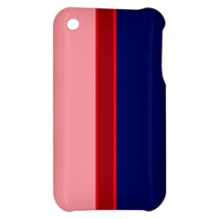 Pink and blue lines Apple iPhone 3G/3GS Hardshell Case