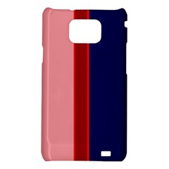 Pink and blue lines Samsung Galaxy S2 i9100 Hardshell Case