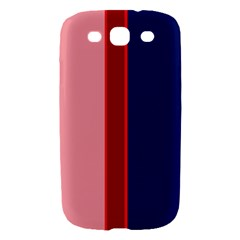 Pink and blue lines Samsung Galaxy S III Hardshell Case