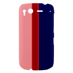 Pink and blue lines HTC Desire S Hardshell Case