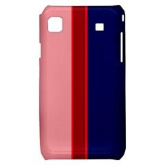 Pink and blue lines Samsung Galaxy S i9000 Hardshell Case