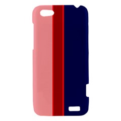 Pink and blue lines HTC One V Hardshell Case