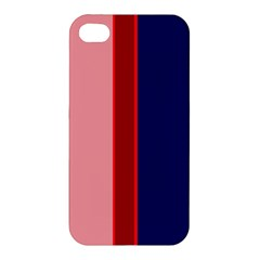 Pink and blue lines Apple iPhone 4/4S Premium Hardshell Case