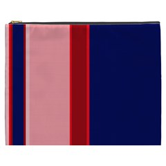 Pink and blue lines Cosmetic Bag (XXXL)