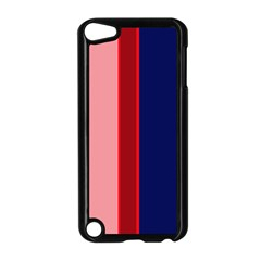 Pink and blue lines Apple iPod Touch 5 Case (Black)
