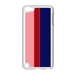 Pink and blue lines Apple iPod Touch 5 Case (White)