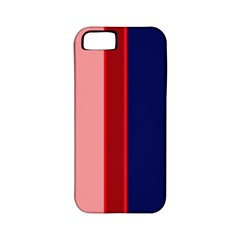 Pink and blue lines Apple iPhone 5 Classic Hardshell Case (PC+Silicone)