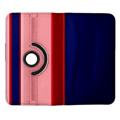 Pink and blue lines Samsung Galaxy Note II Flip 360 Case