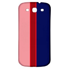 Pink and blue lines Samsung Galaxy S3 S III Classic Hardshell Back Case