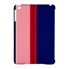 Pink and blue lines Apple iPad Mini Hardshell Case (Compatible with Smart Cover)