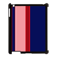 Pink and blue lines Apple iPad 3/4 Case (Black)