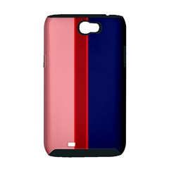 Pink and blue lines Samsung Galaxy Note 2 Hardshell Case (PC+Silicone)