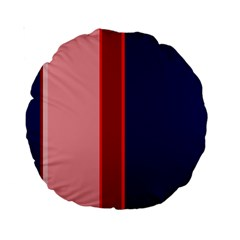 Pink and blue lines Standard 15  Premium Round Cushions