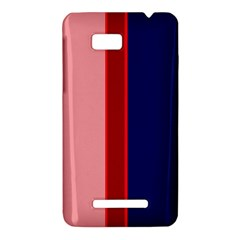 Pink and blue lines HTC One SU T528W Hardshell Case