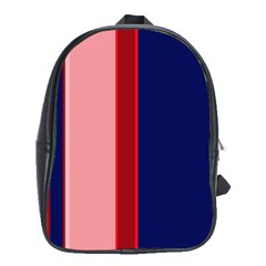 Pink and blue lines School Bags (XL)