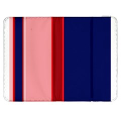 Pink and blue lines Samsung Galaxy Tab 7  P1000 Flip Case