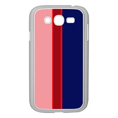 Pink and blue lines Samsung Galaxy Grand DUOS I9082 Case (White)