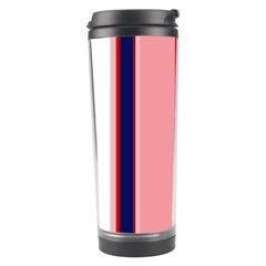 Pink and blue lines Travel Tumbler