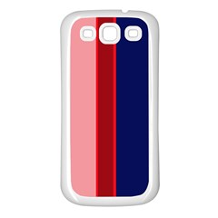 Pink and blue lines Samsung Galaxy S3 Back Case (White)